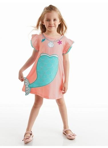 Denokids Denizkızı Pembe Kız Elbise Pembe